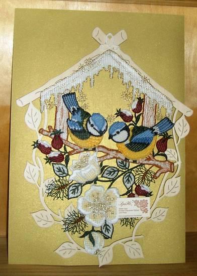 Original erzgebirgische volkskunst fensterbild plauener - Plauener spitze fensterbild ...